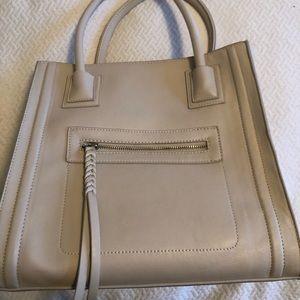 Faux Leather cream purse
